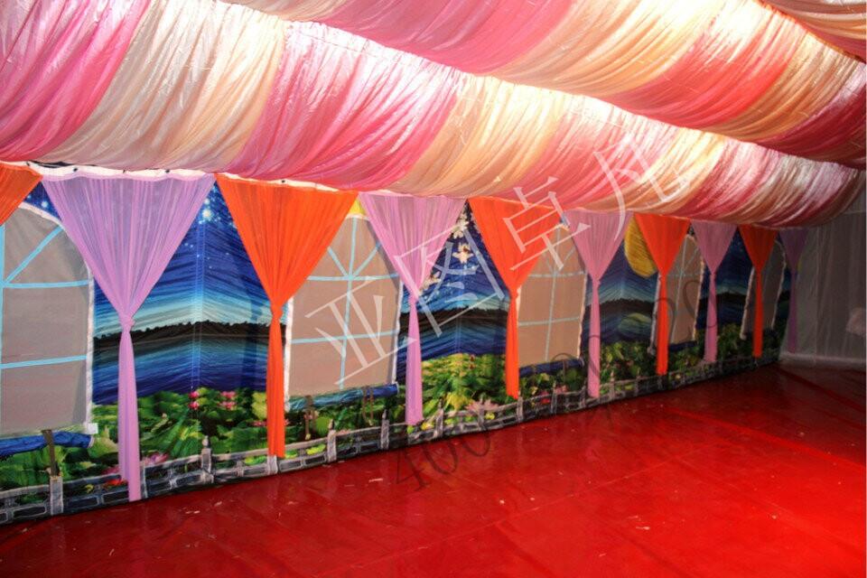 最新款山水画欧式酒席宴会充气帐篷