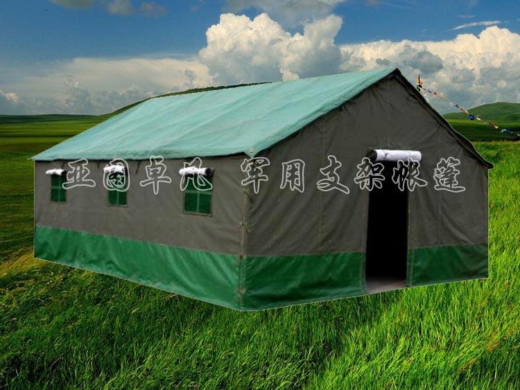 冬季户外帐篷风景图