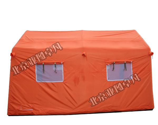 橙色户外充气帐篷