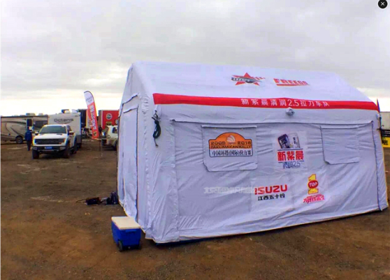 野外活动充气帐篷 户外野营充气帐篷