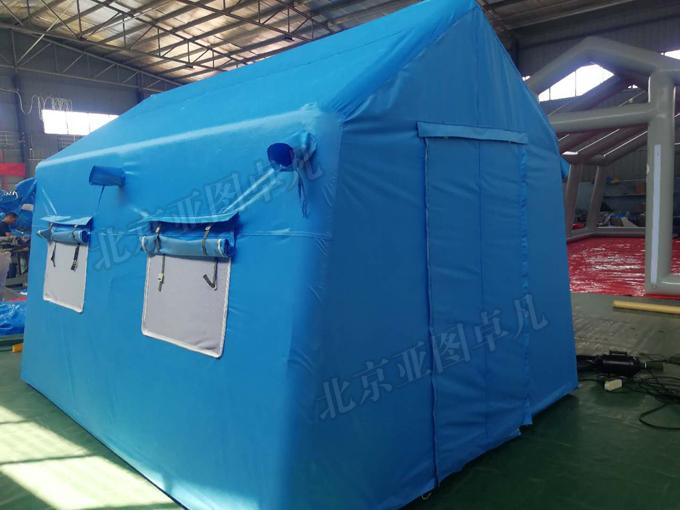 3*4 12平米蓝色户外旅游自驾游双层充气帐篷